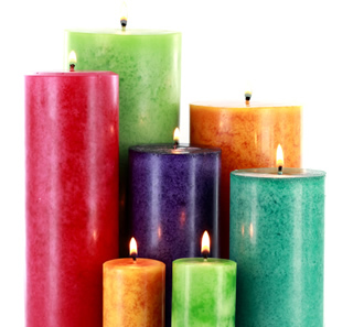 Learn how to make mottled pillar candles.
