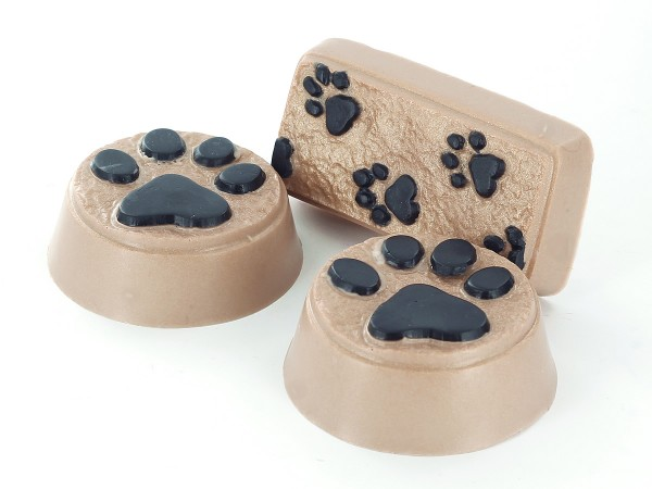 Learn how to make paw prints soaps.