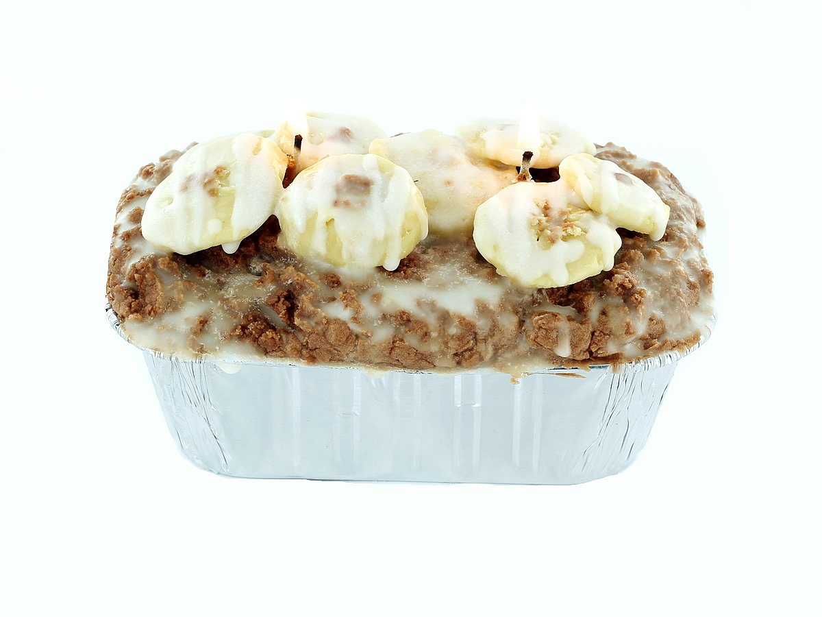 Learn how to make a banana nut bread candle.