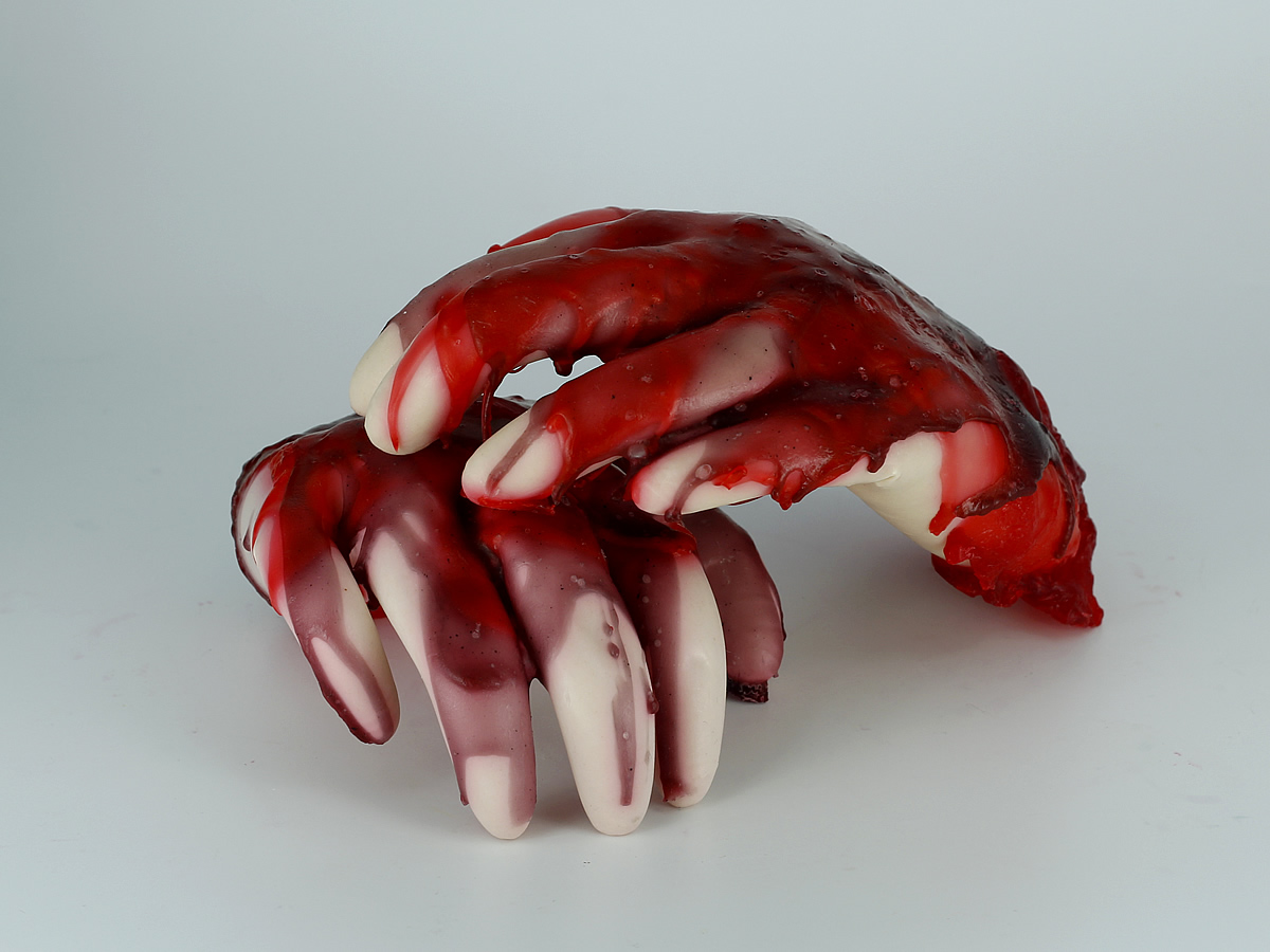 Learn how to make a bloody hands soaps.