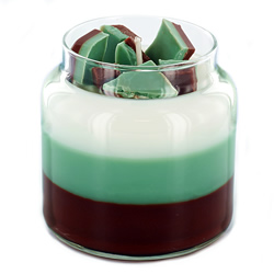 Layered Chocolate Mint Candles