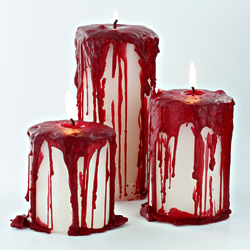 How to make Bloody Pillar Candles