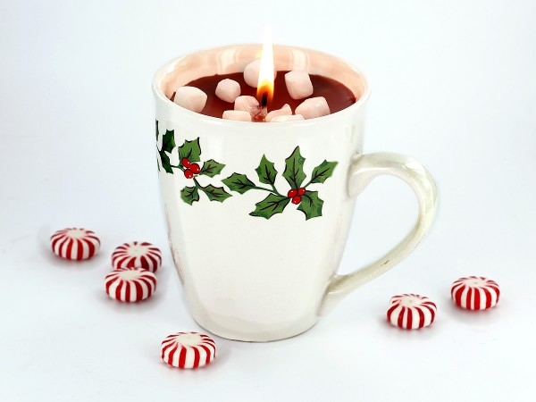 Learn how to make hot cocoa candles.