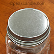 square mason jar with silver lid