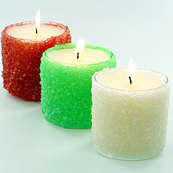Rock Salt Candle Holders