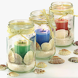 Beach Themed Votive Centerpieces