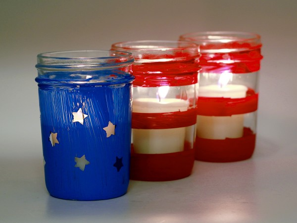 These hand-painted flag lanterns make a great addition to any outdoor décor!