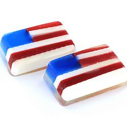 American Flag Soaps