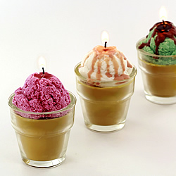 Ice Cream Cone Candles