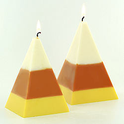 How to make Candy Corn Candles