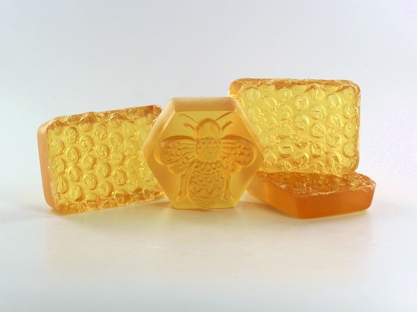 We are buzzing with excitement over these cute honeycomb soaps!