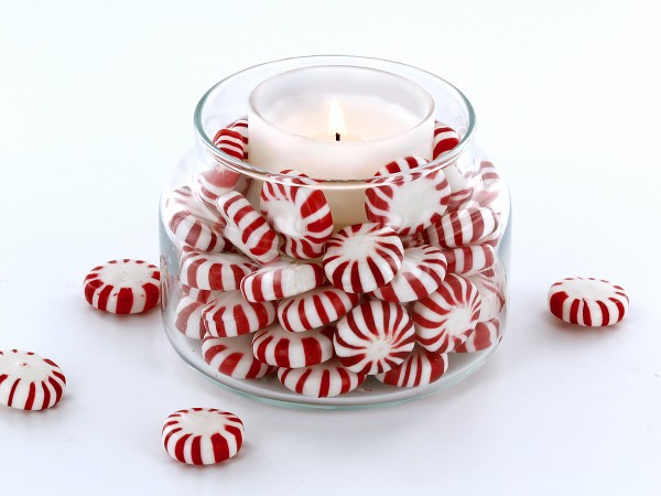 Make this simple Peppermint Candle Holder to add festive décor to your home this season!